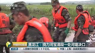 [中国财经报道]黑龙江:挠力河宝清段一处河堤决口| CCTV财经