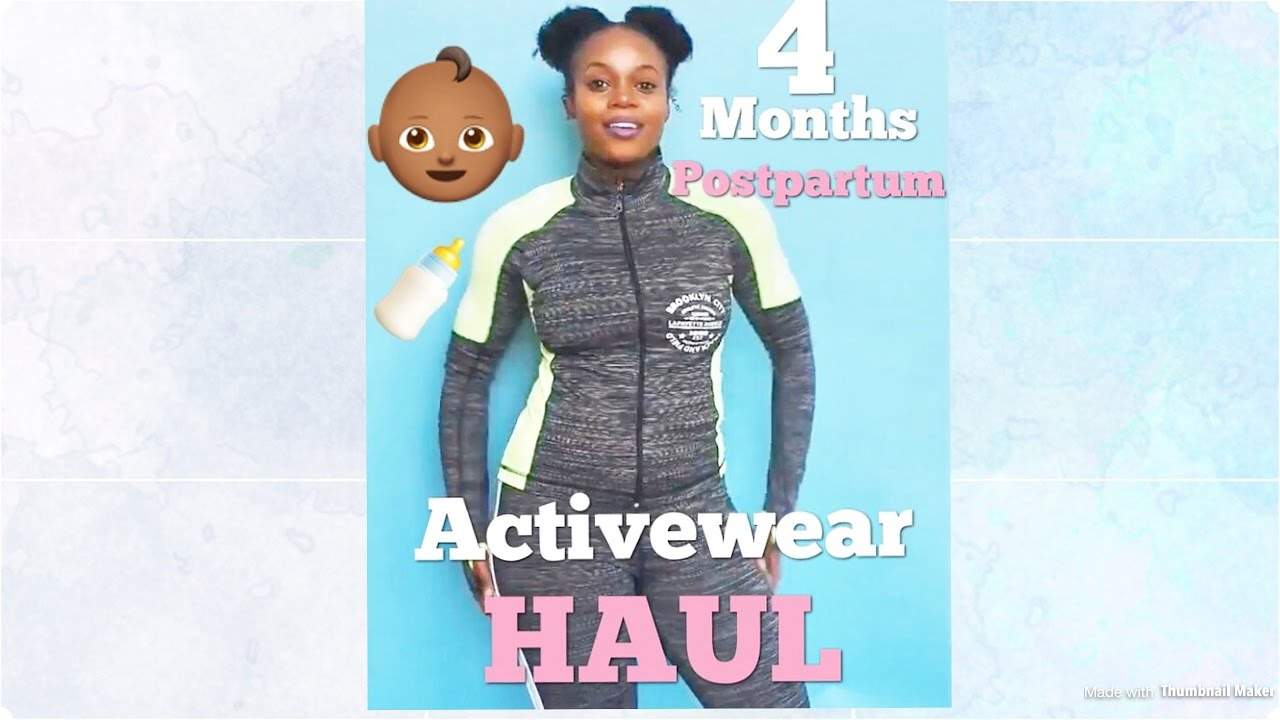 f8cf46b29ea0f First Try On Haul | 4 Months Postpartum Activewear (Loud) - YouTube