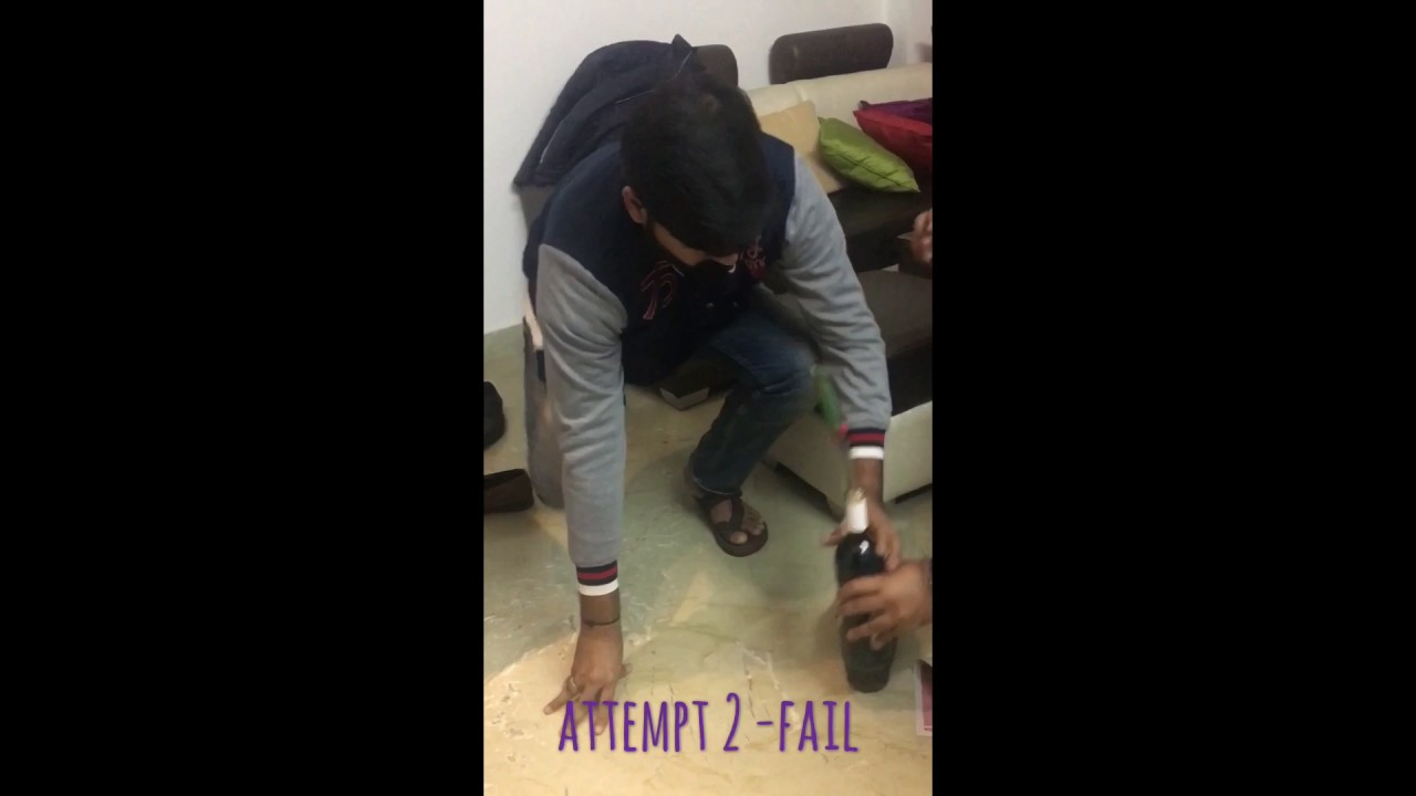 how to open wine without wine opener youtube