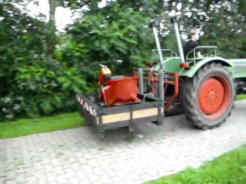 fehrenbach mulcher an fendt farmer 2 9 j hriger trecke. Black Bedroom Furniture Sets. Home Design Ideas