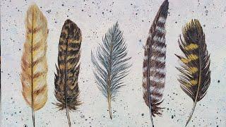 Easy Boho Feathers Acrylic Painting LIVE Tutorial