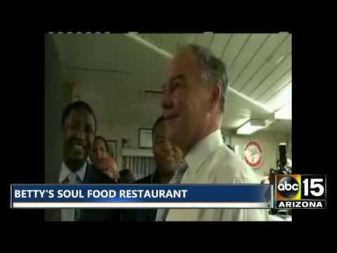 Tim Kaine: Betty's Soul Food restaurant in Fort Lauderdale, FL - Soulfood