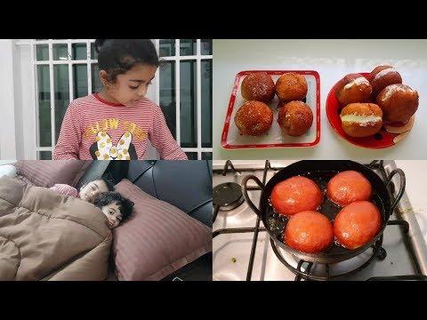 delicious-jam-bun-&-butter-bun---mom-routine---yummy-tummy-vlog