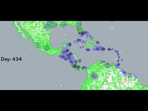 Projected cumulative Chikungunya infections in Caribbean