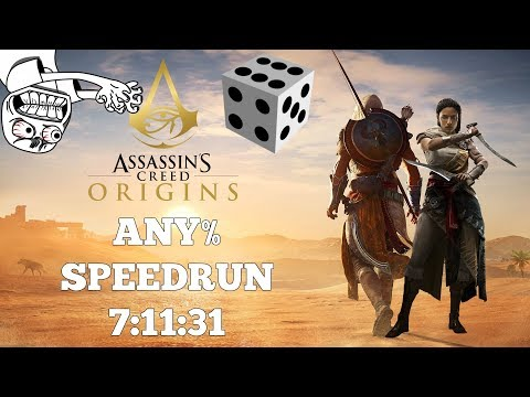 Assassin's Creed Origins | PC | Any% Speedrun | World Record 11/26/17 | 7:11:31 | Anti-Speedrun Game