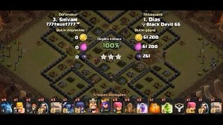 Clash Of Clans | TH10 (Dias) vs TH9 | GoWiWiPe | Clan War 3 Stars Attack