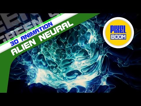 Alien Neural Connection Synapses Animated Background - PixelBoom