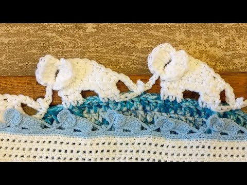 Elephant Edging Border [Free Crochet Pattern and Video Tutorial] 2 ... | 360x480