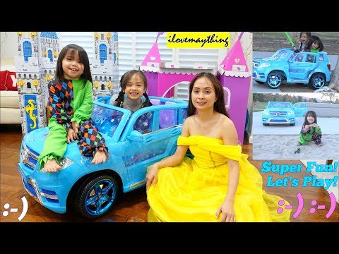 Children's Toy Cars! Disney Frozen Princess Pretend Playtime. Disney Frozen Power Wheels Car