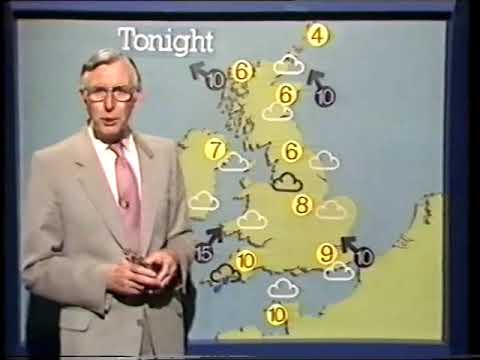 BBC1: Jack Scott's last weather, continuity and closedown - Wednesday 4th May 1983