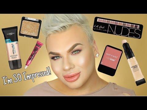 Drugstore Makeup Tutorial   Trying NEW Makeup!