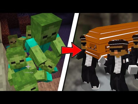 ASTRONOMIA COFFIN MINECRAFT MEME ZOMBIE VS CREEPER