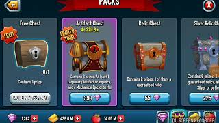 OPENING 3 ARTIFACT CHESTS MONSTER LEGENDS