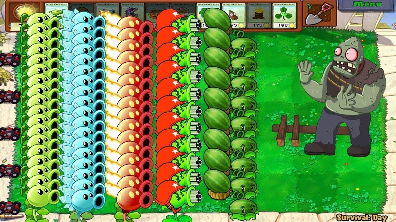 Plants vs Zombies - Gargantuar vs All Pea PvZ vs Giga Gargantuar