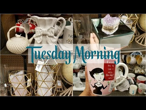 TUESDAY MORNING SHOP WITH ME HOME DECOR IDEAS 2018