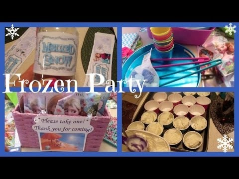 Disney Frozen In Summer Party Prep