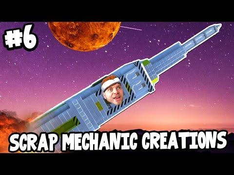 Scrap Mechanic CREATIONS! - BEST ROCKET EVER! [#6] W/AshDubh | Gameplay |