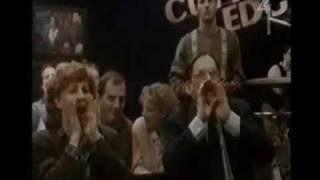All My Children Laurel Dillon assassination p 5:Janet confronts dixie,laurel, audience argue Michael