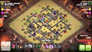 Clash of Clans: Latinos Army / Th 9 Vs Th 9 / GOLALOON / Héroes 13 - 16