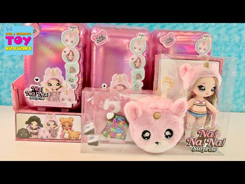 Na Na Na Surprise Fashion Dolls Animal Themed Cute Poms Hangers Unboxing | PSToyReviews
