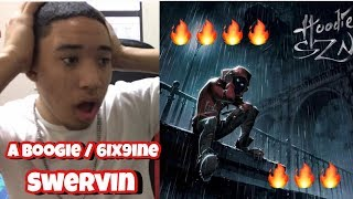 A Boogie Wit Da Hoodie - Swervin feat. 6ix9ine [Official Audio] REACTION!!!!