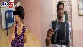 చిన్నారి చెయ్యి విరిచిన స్కూల్ టీచర్ | School Teacher Breaks Student Hand | Visakhapatnam | TV5 News