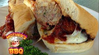 Smoked Meatball Sub Sandwich Recipe