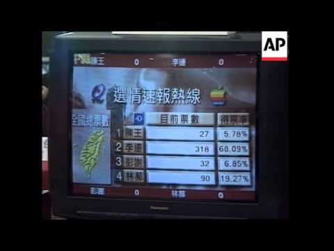 TAIWAN: EARLY ELECTION RESULTS SHOW LEAD FOR LEE TENG HUI