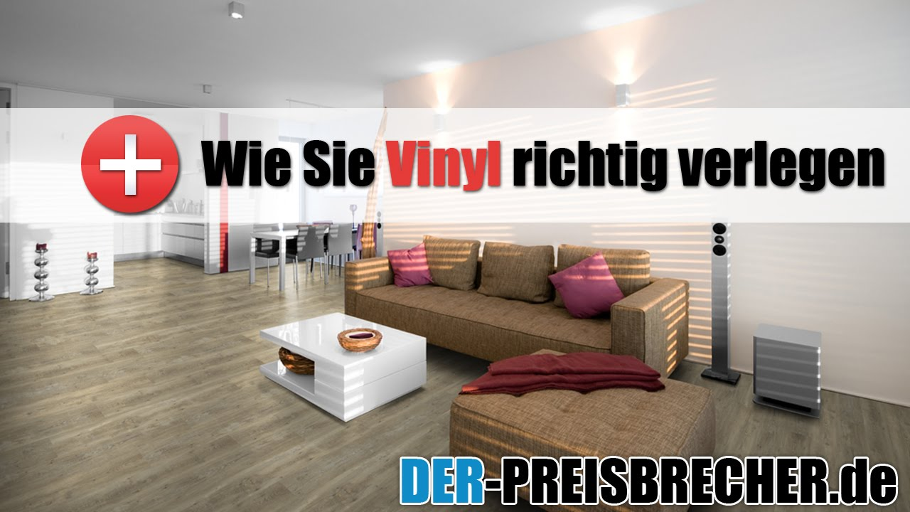 wie sie vinyl richtig verlegen youtube. Black Bedroom Furniture Sets. Home Design Ideas