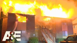 Live Rescue: Huge Duplex Fire Extinguished (Season 2) | A&E
