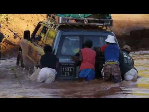 (T) Car crossing river near town of Belobaka, Madagascar (6)