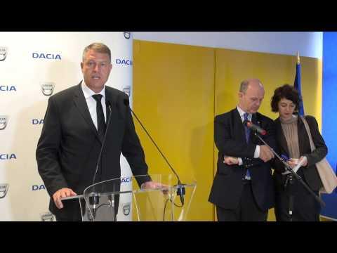 Conferinta de presa Klaus Iohannis   Nicolas Maure la Dacia, 8 octombrie 2014
