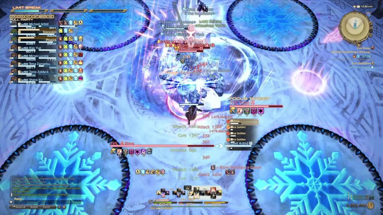 FFXIV: Shiva Extreme Solo Tank (LEVEL 50, NO ECHO)