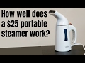 How well does a $25 portable steamer work? Sterline Portable Garment Steamer Review and Demo