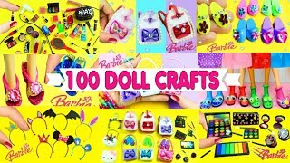 100 DIY Miniature Barbie Dollhouse Accessories  & Lifehacks #3  - simplekidscrafts