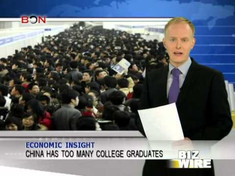 China has too many college graduates - Biz Wire - April 4, 2013 - BONTV China