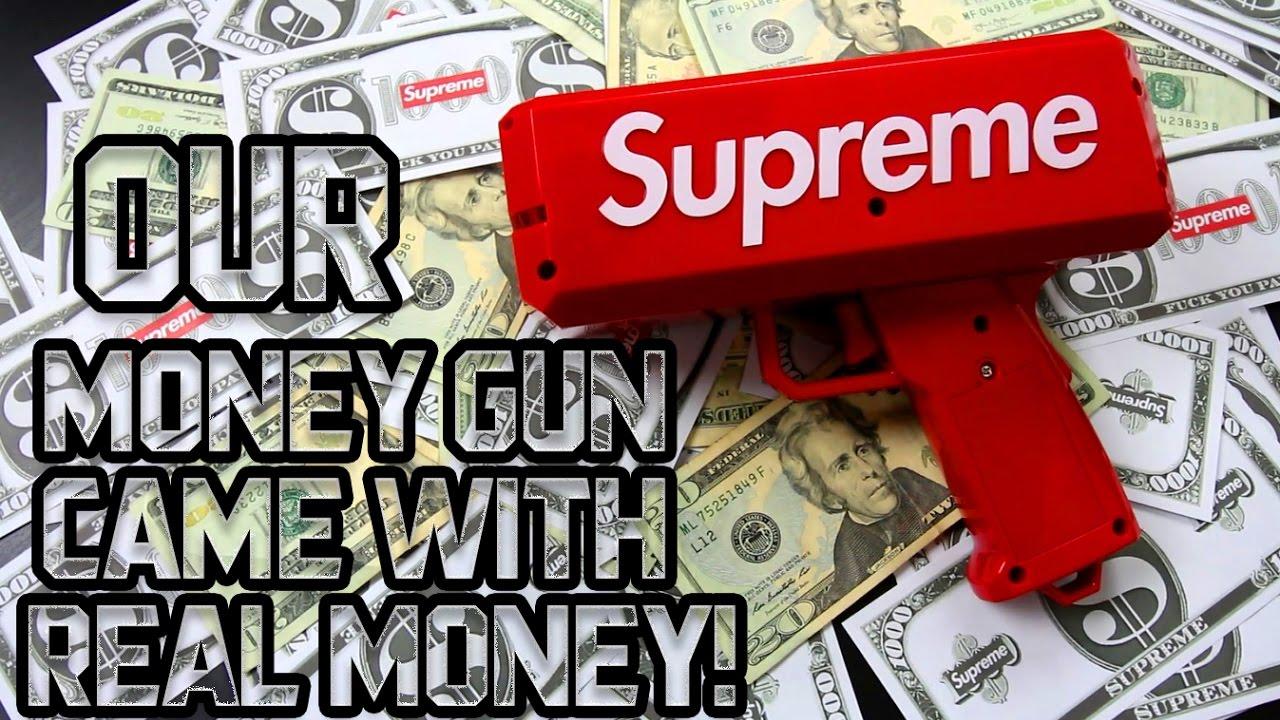 1d6d699da8d4 SUPREME MONEY GUN CRAZY UNBOXING!!! (MUST WATCH) - YouTube