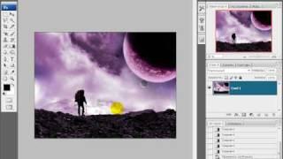 Урок 1. Совмещение двух фотографий.(Самый обыкновенный коллаж - слияние двух картинок. В уроке наглядно показано, как сделать плавные переходы..., 2010-05-20T18:17:30.000Z)