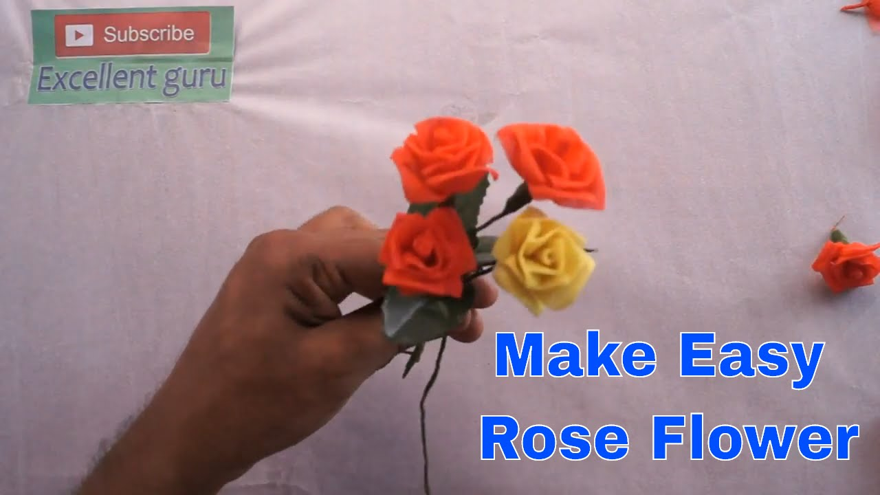 Diy How To Make A Simple And Beautiful Organdy Cloth Rose Flower