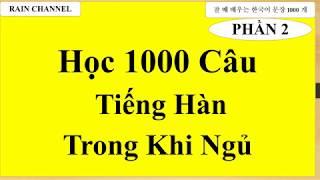 P2 -Học Tiếng Hàn khi ngủ - 1000 từ vựng tiếng Hàn và Câu  online- tiếng Hàn sơ cấp- Cơ bản-nhập môn