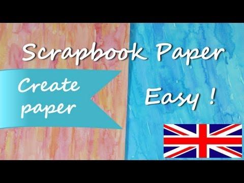 diy-how-to-paper-*make-paper-for-scrapbook-ideas*-paper-for-craft-scrap-cardstock-pintura-facil
