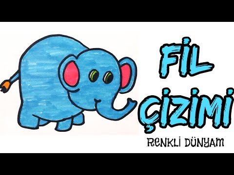 Mavi Fil Nasil Cizilir Fil Cizimi How To Draw An Elephant