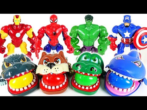 Marvel Avengers Hulk, Spider Man and terrible crocodile, din