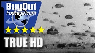 HD Stock Footage WWII Lest We Forget R8 - 82nd Airborne Paratroopers, Nijmegen, German Atrocities