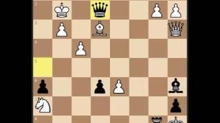 Шахматы.  Матовая атака на короля