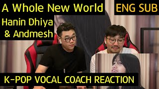 Download Mp3 K-pop Vocal Coach Reacts To A Whole New World - Hanin Dhiya & Andmesh
