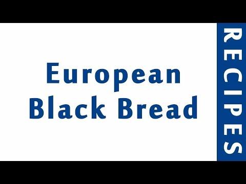 European Black Bread | BREAD RECIPES | RECIPES LIBRARY