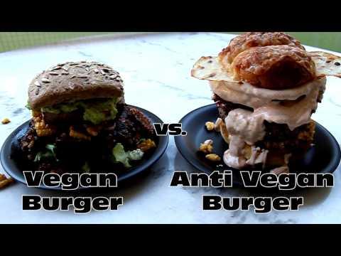 VEGAN BURGER vs. ANTI VEGAN BURGER 🍔 Burger Battle 🍔 Burger Recipe 🍔 Food Porn