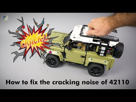 How to fix the cracking noise of the LEGO Technic 42110 Land Rover Defender