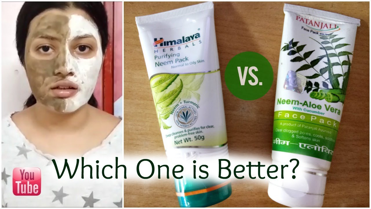 Himalaya Neem v/s Patanjali Neem Face Pack | Which One is Better? | Comparison Video